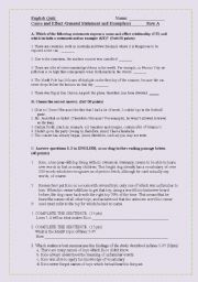 English worksheet: Reading trategies