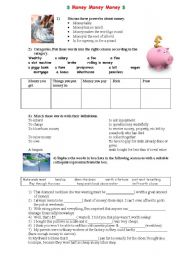 English Worksheet: Money Money Money