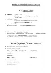 English Worksheets: Sentence Writing Good Advice