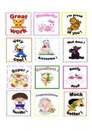 English Worksheets: Motivating awards for students!!!