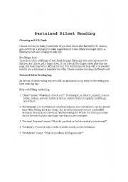 English Worksheet: Sustained Silent Reading Log