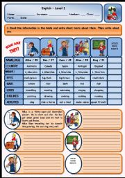 English Worksheets: WHO ARE THEY?