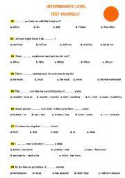 INTERMEDIATE LEVEL TEST YOURSELF - ESL worksheet by avrupalikoleji