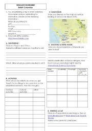 English teaching worksheets: Travelling