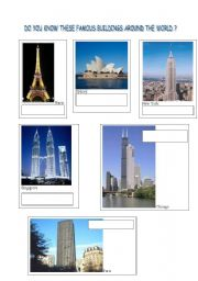 English Worksheets: Towers of the world