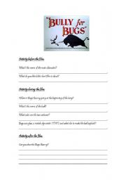 English worksheet: Bully for Bugs (film activity)