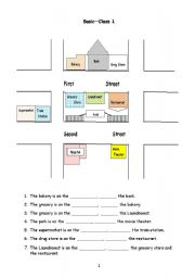 giving directions esl worksheet by christineyez. Black Bedroom Furniture Sets. Home Design Ideas