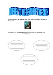 English Worksheet: Journey to the center of the earth