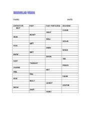 English worksheet: TEST ON IRREGULAR VERBS