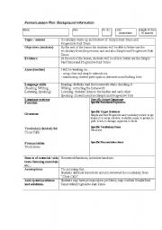 English Worksheets: Lesson Planning Form