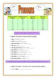 math worksheet : english worksheets pronouns worksheets page 62 ...