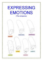Emotions the simpsons 2 5 hand out 2 of 5 about expressing emotions