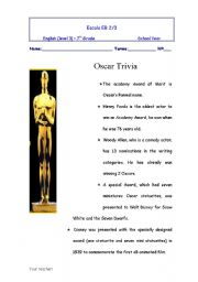 English Worksheets: oscar trivia