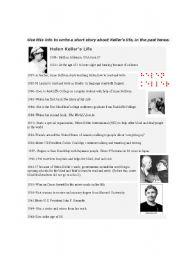 english worksheet helen keller s life timeline. Black Bedroom Furniture Sets. Home Design Ideas