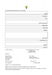 English Worksheets: letters on business situations