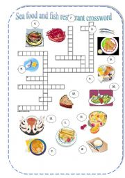 english teaching worksheets food crosswords