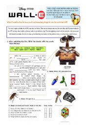 English Worksheet: WALL-E - The movie
