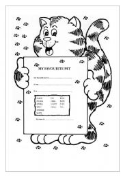 English Worksheets: MY FAVOURITE PET