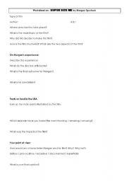 english worksheets super size me worksheet for a conversation class. Black Bedroom Furniture Sets. Home Design Ideas