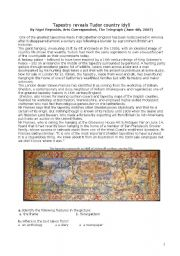 English Worksheets: Tudor Tapestry