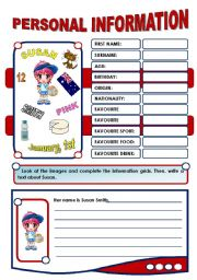 English Worksheets: PERSONAL INFORMATION - 1