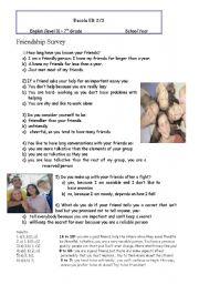 English Worksheets: friendship survey