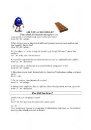English Worksheets: Are you a chocoholic?