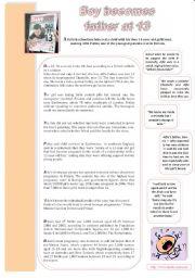 English Worksheets: Dad at 13