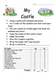 English Worksheet: My Castle Project