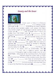 English Worksheet: Beauty and the Beast - Movie segment  I - Listening Comprehension