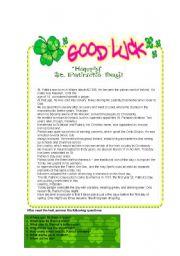 English Worksheets: St. Patrick�s worksheet