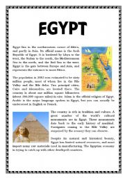 English teaching worksheets: Egypt