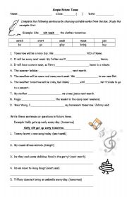 Simple Future Tense Practice - ESL worksheet by oklo
