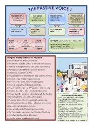 English Worksheets: The Passive Voice I
