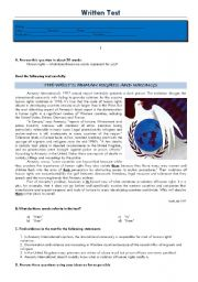 English Worksheets: Test - Human rights