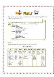 English Worksheets: WRITING TASK- FAMILY