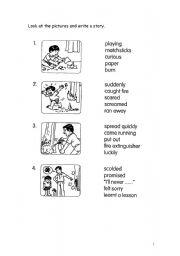 English Worksheet: Guided writing