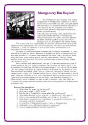 English Worksheet: Racism and Rosa Parks (3 pages)