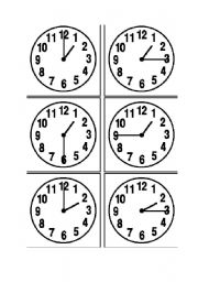 telling the time exercise pdf