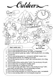 English Worksheet: Outdoors (1)