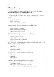 English Worksheets: When in Rome