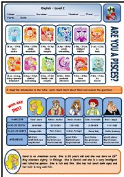 English Worksheet: DESCRIBING PEOPLE (APPEARANCE AND CHARACTER) - 2 PAGES