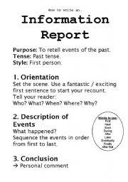 English Worksheets: Information Report