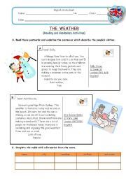 The Weather - reading and vocabulary activities
