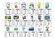 English Worksheet: Superhero/Cartoon character card game (comparative, superlative and numbers) very fun! 3/3