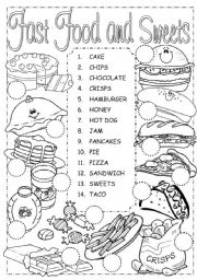 Empowered By THEM: Fast Food Worksheet 1