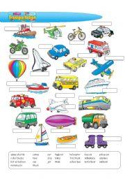 English Worksheet: Transportation