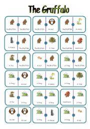 English Worksheets: Dominoes on the gruffalo