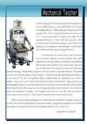 English Worksheets: Mechanical teacher