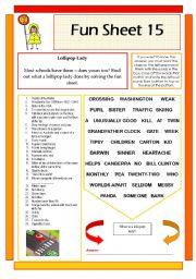 English Worksheets: Fun Sheet 15